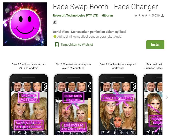 Aplikasi Untuk Edit Foto Ganti Muka Di Android Xamux Com Kamus Indonesia Inggris